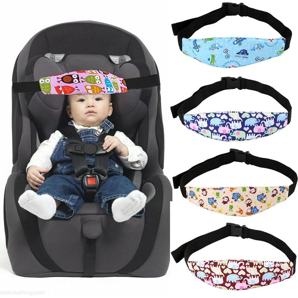 New Cotton Belt Pram Secure Strap Doze Band For Baby Pram Child Safety Seat Child Car Safety Seat Head Fixing Auxiliary Pillow