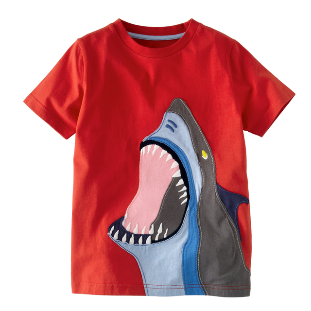 2016 New Kids T-Shirt Baby Clothes Boys Summer O-Neck T-shirts Cartoon Monkey Girls Short Sleeve Tops Children Cotton Clothing