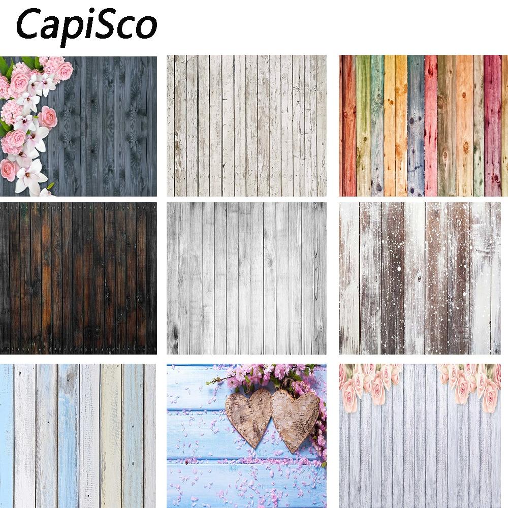 Capisco Colour Wood Floor Photography Backdrops Newborn Photo Booth Backgrounds For Photographers Studio Vinyl Photophone Floors