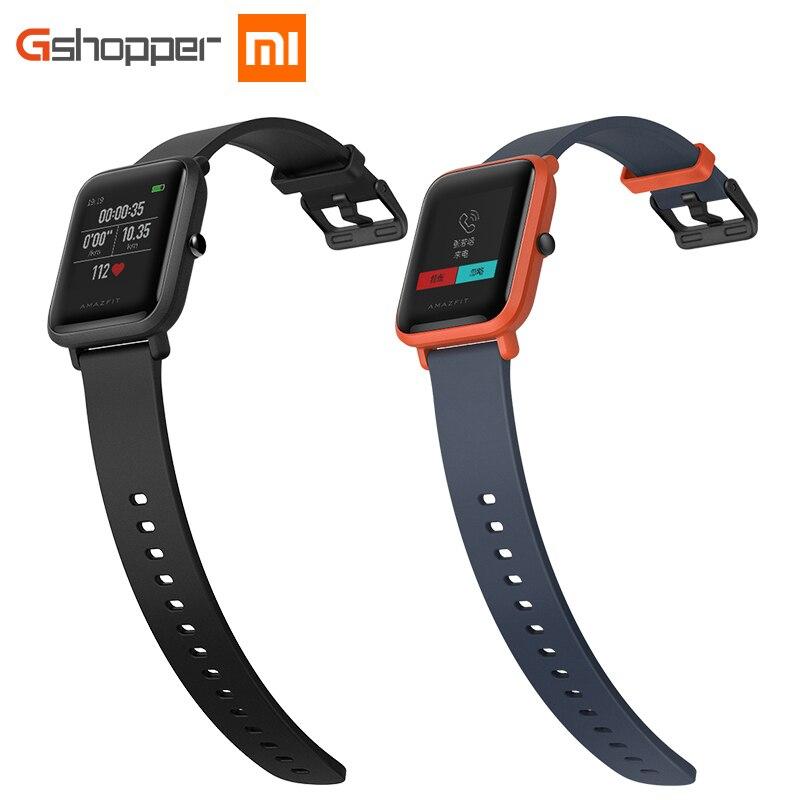 Versión inglés MI AMAZFIT Bip juventud Smart Watch GPS GLONASS Monitor de ritmo cardíaco Android 4,4 IOS 8 Bluetooth 4,0 IP68 impermeable