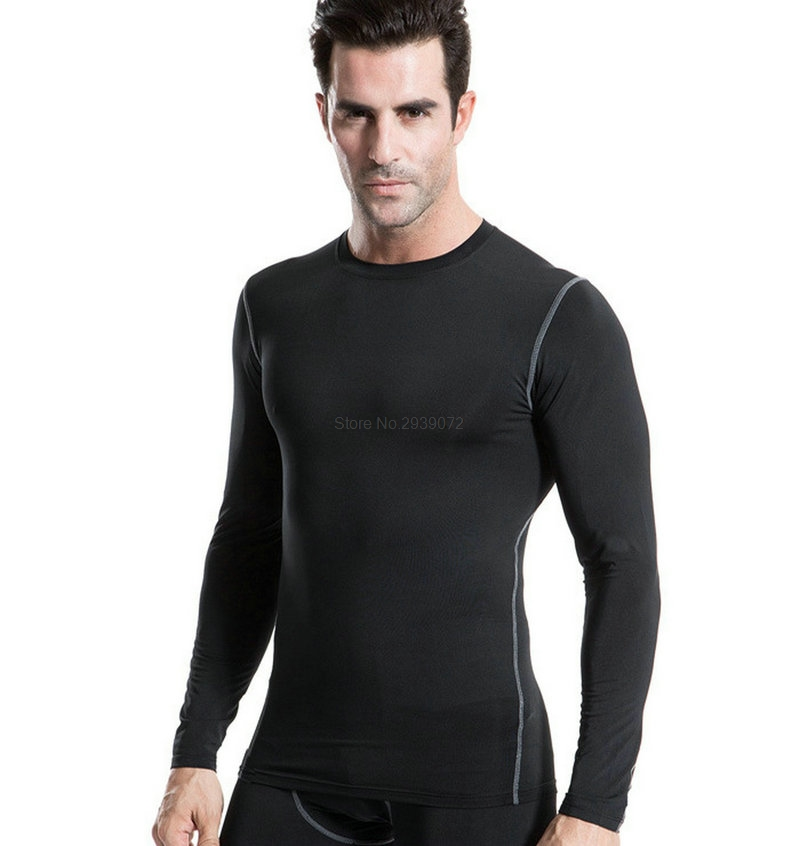 2017 Compression Yoga shirt Tops Sports apparel Fitness Sportswear Running Man Athletic workout t shirts Dry Fit Gym Clothing