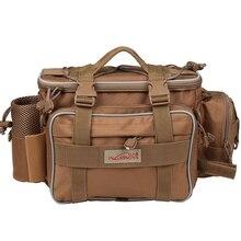 Trulinoya Fishing Tackle Bag Multifunctional Lure Waist Pack Waterproof Soft Sided Waist Shoulder Carry Storage
