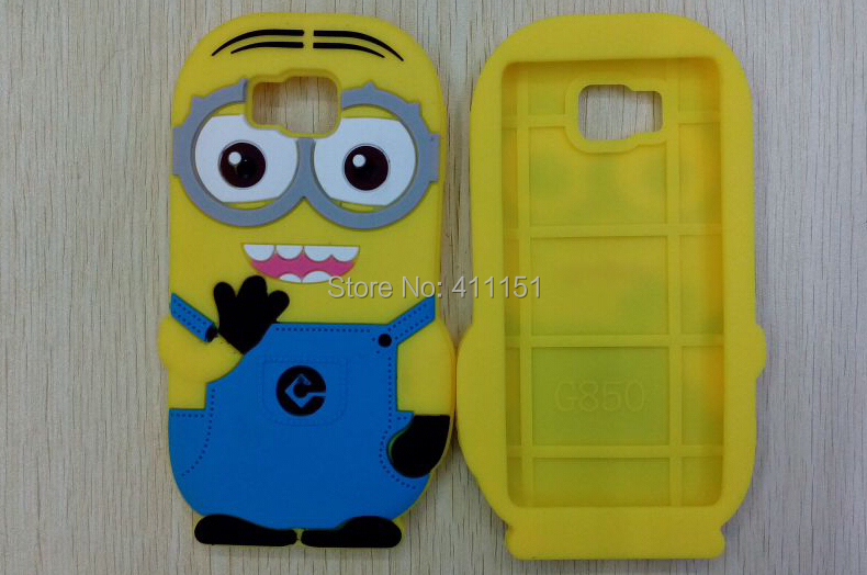 3D Despicable 2 Minions Soft Silicone Back Cover Case Samsung Galaxy Alpha G850 - ALEX ZHOU Store store