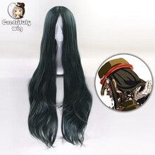 100cm korekiyo shinguji danganronpa v3: matando harmonia cosplay peruca longa ondulado resistente ao calor sintético fantasia festa perucas