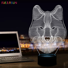 Funny 3D Three-dimensional Night Lamp LED Lights with Animal Bear Shape Desk as Kids Room