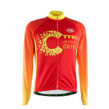 TVSSS Men's Winter Cycling Clothing Jersey Red Warm Fabric Riding Bike Clothes Sports Jersey Blcycle