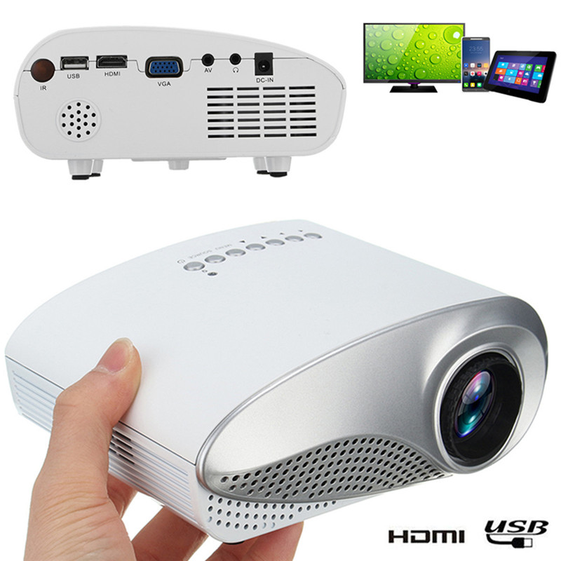 Home Cinema Portable 1080P 3D HD LED Projector Multimedia Home Theater USB VGA HDMI TV Home Theatre System