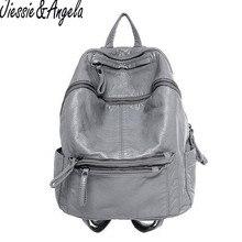 Jiessie & Angela высокого качества из мягкой искусственной кожи женские Рюкзаки Новая модная женская дорожная сумка повседневные женские рюкзаки бренд женщин
