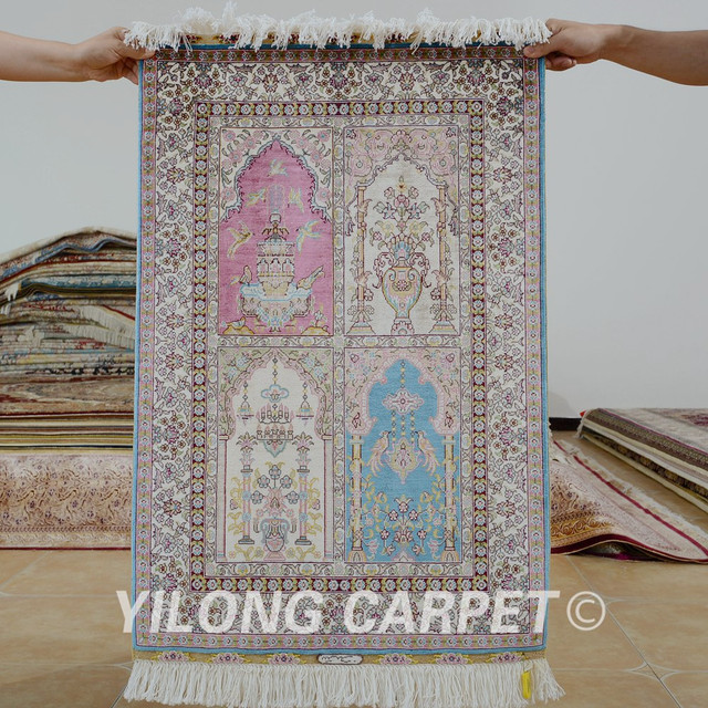yilong 2x3 turkish silk carpet garden design handmade exquisite four season rugs