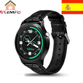 [Espanha shopping] gw01 smart watch sports pulseira relógio bluetooth 4.0 ips tela redonda para telefones android ios