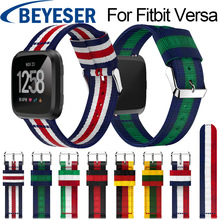 New Arrival Nylon Watchband for Fitbit Versa Sport Watch Band Wriststrap for Fitbit Versa Strap Replacement Watch Band Strap недорого