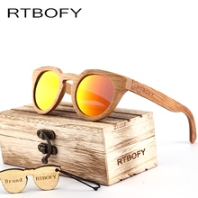 RTBOFY Wood Sunglasses Women 2017 Bamboo Brand Desig Sun Glasses Vintage Wood Case Beach Sunglasses for Driving gafas de sol