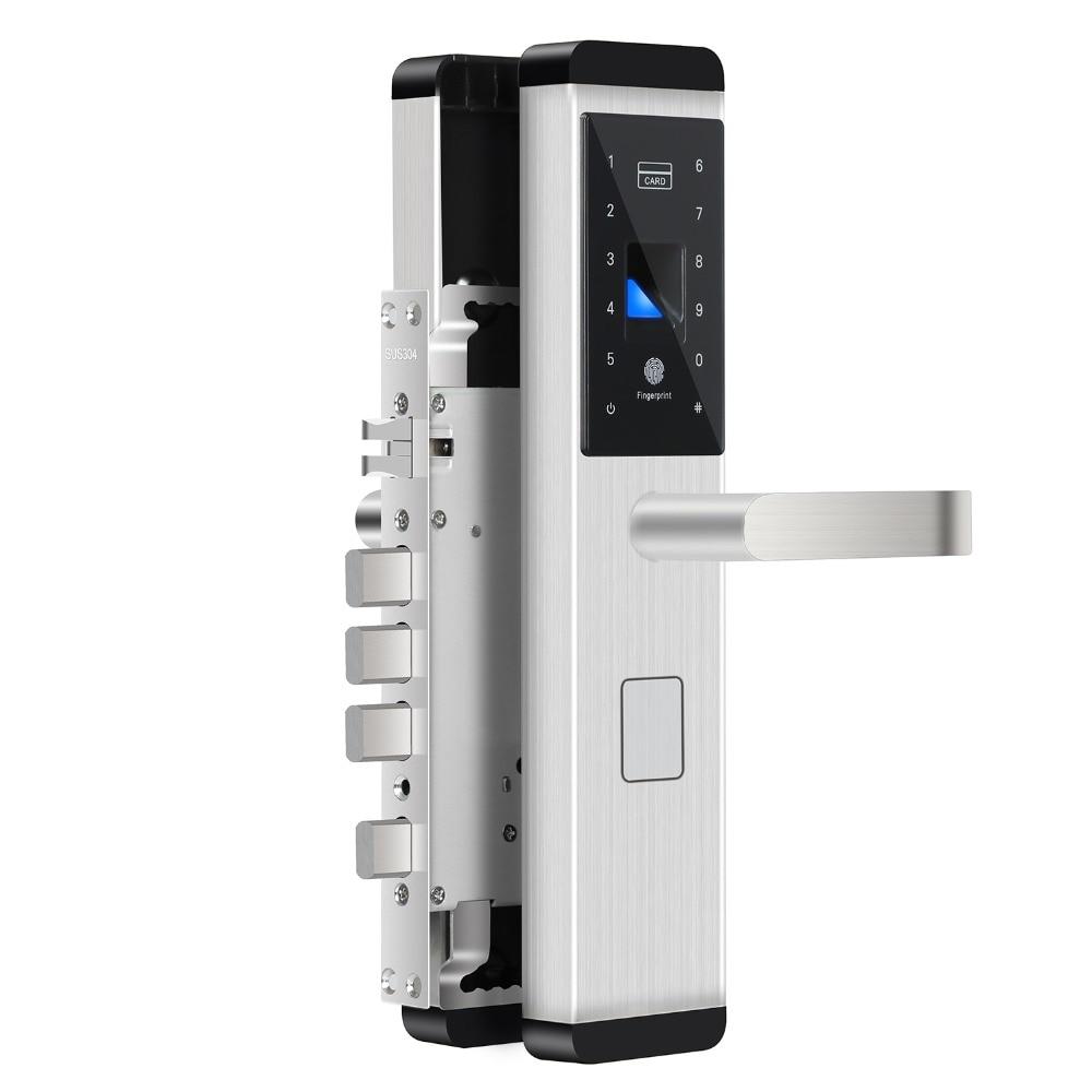 Fingerprint Lock Digital Electronic Door Lock For Home Anti theft Intelligent Lock Password Card Biometric electric