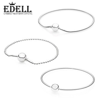 EDELL Top Quality 925 Sterling Silver Bead Charm Silver WISDOM Beads Fit A ESSENCE Bracelet Bangle