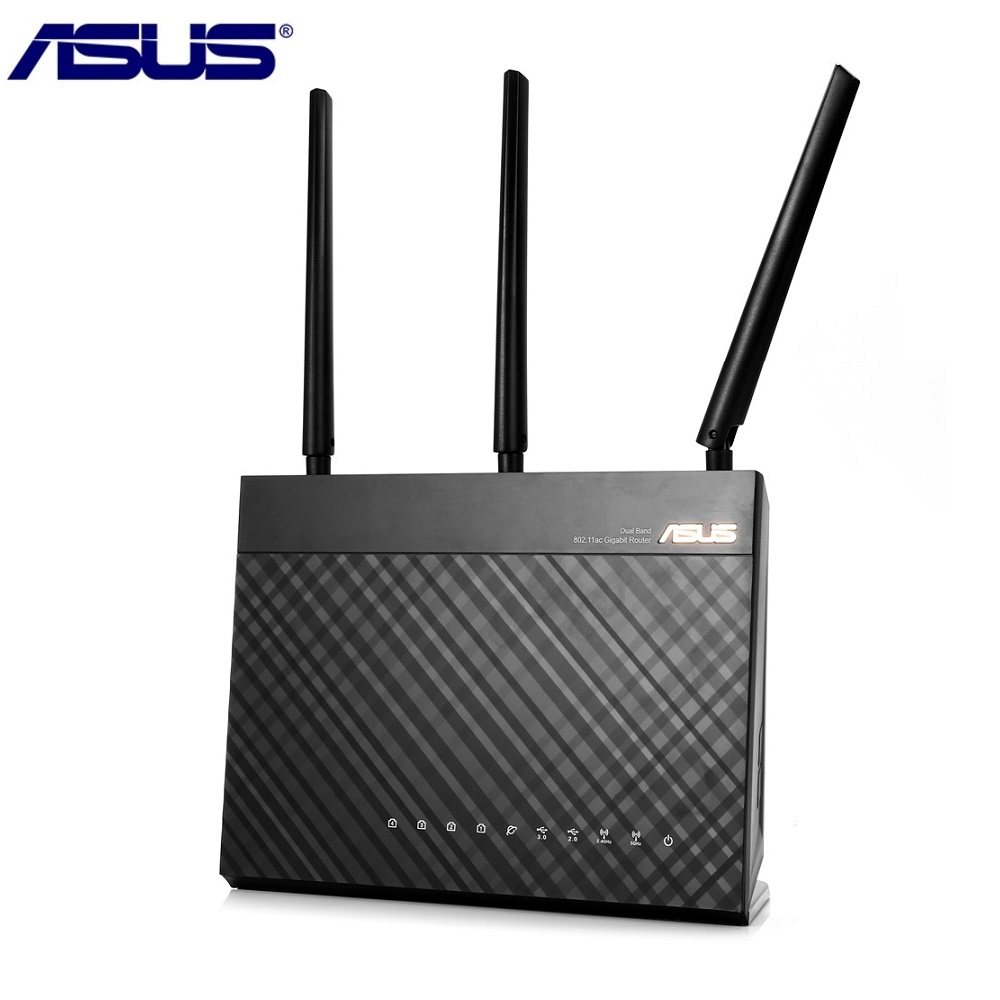 ASUS RT-AC68U Wireless Router 1900Mbps 2.4GHz / 5GHz Dual Band WiFi Repeater Support VPN Perfect for Home Use цена и фото