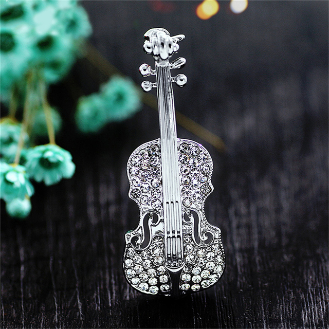 ed196dd3cca Fashion Women pins Personality brooches Crystal Rhinestone Violin Brooches  Pin Jewelry Accessories brooch