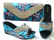 Italian shoe with matching bag new design ladies matching shoe and bag Italy design GL1 01