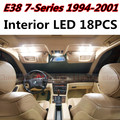 18pcs X free shipping Error Free LED Interior Light Kit Package for BMW E38 accessories 1994-2001
