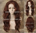 Beautiful Sexy Synthetic  Lace Front Wig Long Wavy Copper Red Hair Wigs  free shipping