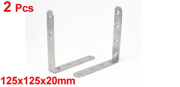 2Pcs Furniture Shelf 125X125x20mm L Shaped Angle Brackets Corner Braces Supports Brackets To Make Furniture Parts Stay Firm in Brackets from Home Improvement