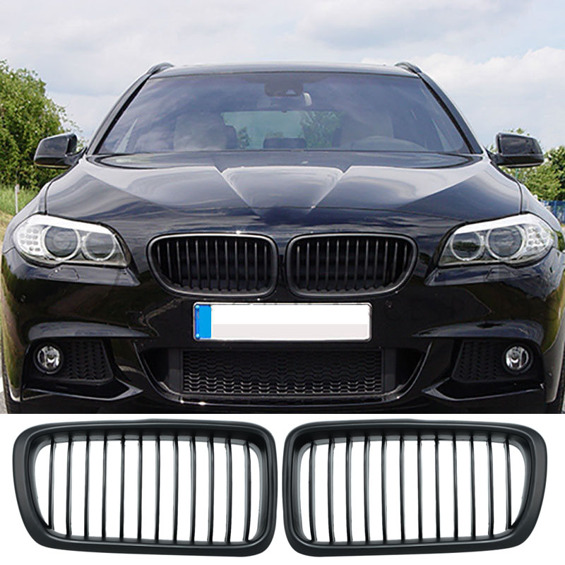 1 Pair Car Styling Front Racing Grills Matte Black Front Kidney Grille For BMW 7 Series