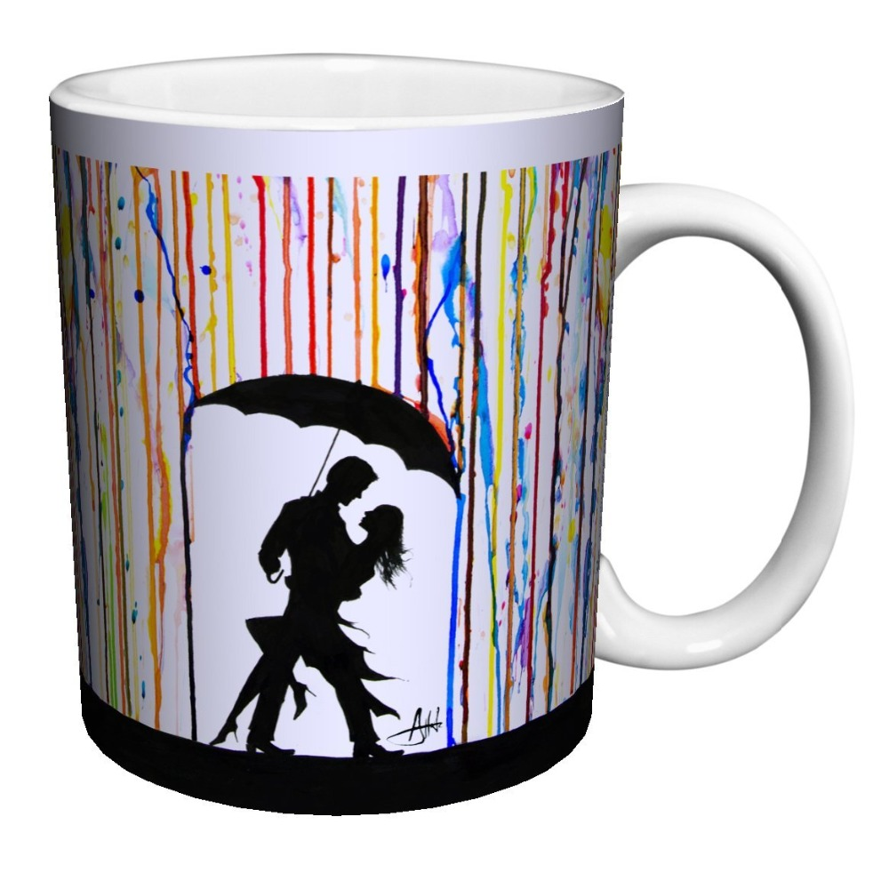 contemporary mugs promotionshop for promotional contemporary mugs  - couple under umbrella dancing modern contemporary art porcelain gift coffee(tea cocoa)  oz mug