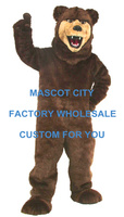Professional Custom! EMS FREE SHIP! Grizzly Bear Mascot Costume SW498