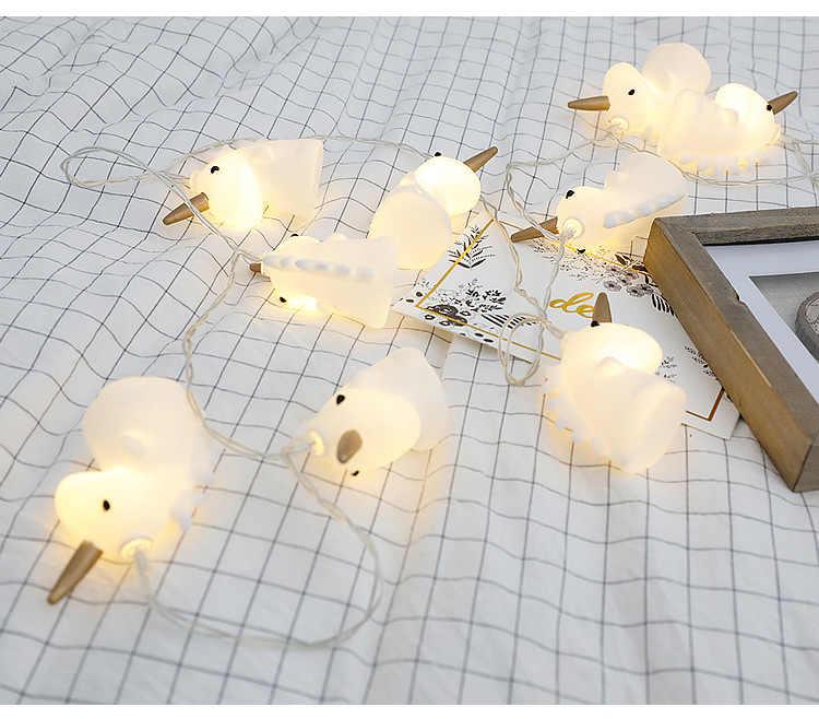 Единорог Stirng огни 1,5 м 3 м 20 светодиодный светильник AA Батарея работает светодиодный строки удаленного Управление для маленьких праздник гирляндой