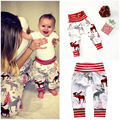 Newborn Infant Baby Boys Girls Deer Print Bottom Pants Casual Harem Xmax Clothing Pants Trousers