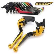For Honda CBR 600 F2 F3 F4 F4i 900RR CB 599 600 919 VTX1300 NC700 S/X CNC Folding Foldable Brake Clutch Levers D10 цены онлайн