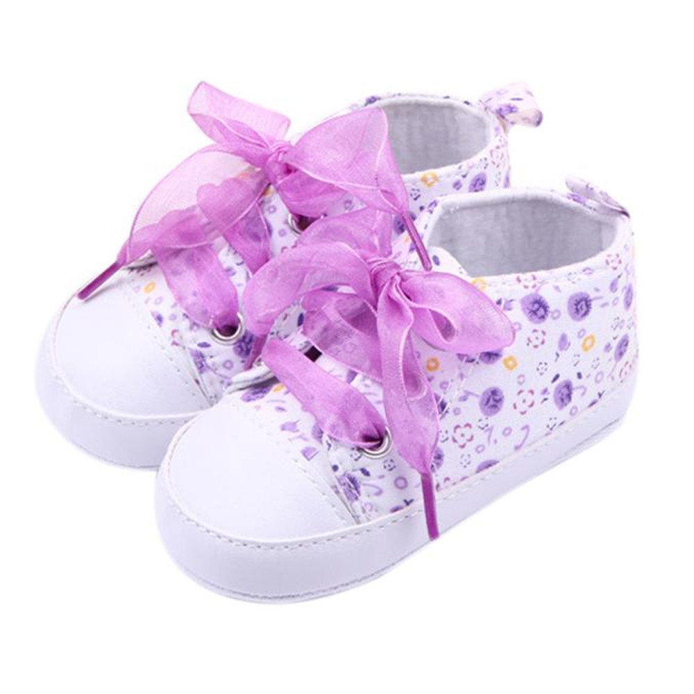 SAGACE 2018 Hot Girls Floral Soft Soled Shoe Infant Toddler Walking Sneaker Girls Kids Crib Lace Up Shoes boys Baby Shoes