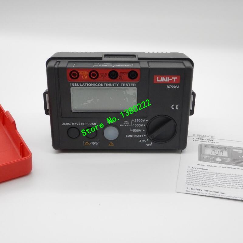 LCD Backlight UNI-T UT502A 2500V Digital Insulation Resistance Meter Tester Megohmmeter Highly Voltmeter Continuity Tester  insulation resistance tester megohmmeter voltmeter dvm with lcd backlight