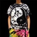 Tie dye Handmade eight trigrams Hippy pattern Personality colorful lovers t shirt