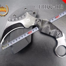 FBIQQ Открытый тактический высокая твердость прямой нож, дикий нож выживания, пустыне самообороны носить karambit нож