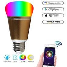 Умная Светодиодная лампа e 27 e14 b 22 с wi fi регулируемая