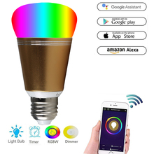 E 27 E14 B 22 smart wifi led bulb RGBW Dimmable 16 colors Multicolor Magic Light 11W IFTTT Alexa and Google Assistant Dropship