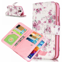 3D Relief Wallet Case For Coque Samsung Galaxy S5 Case Leather Silicone Soft Flip Cover Samsung