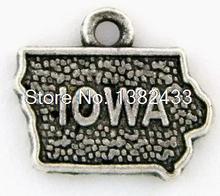 10 шт. -- iowo подвески Античные тибетские серебряные iowo Подвески, DIY принадлежности 16 мм x 14 мм