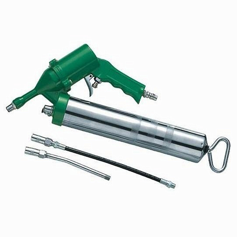 portable pneumatic grease gun air grease filling tool wind oiler with two extend nozzle