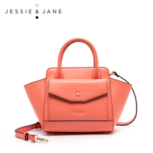 JESSIE&JANE New Fashion Handbag Stylish Shoulder bag Split leather Bag Casual Totes Top-Handle Bags messenger bag 1831