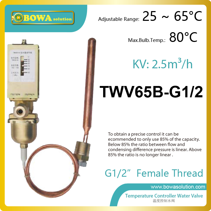 Thermo. operated water valve can be installed in either the cooling  water flow line or the return line, replace AVTA valves thermo operated water valves can be used in food processing equipments biomass boilers and hydraulic systems