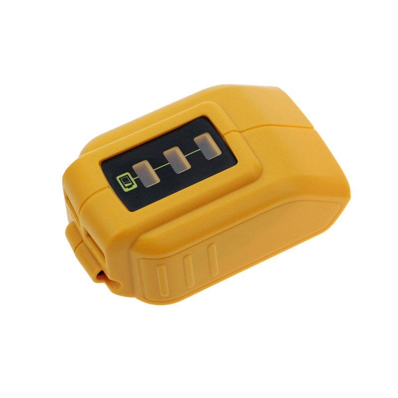 DCB090 USB Converter Charger For DEWALT 14.4V 18V 20V Li-ion Battery Converter DCB090 USB Device Charging Adapter Power Supply 2 pcs power tool battery charger for dewalt dcb101 dcb105 dcb200 dcb201 d 65510 new 20 v li ion free shipping