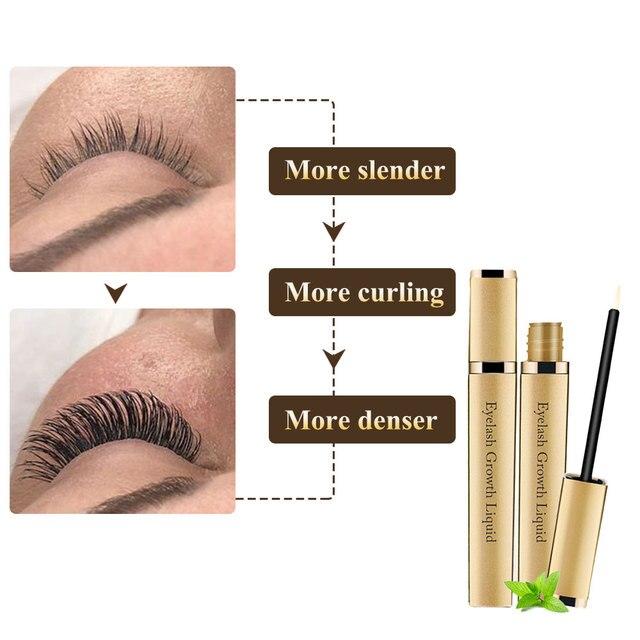 Eye Lashes Growth Eyelash Growth Enhancer Serum Eyebrow Eyelash Growth Treatment Lash Curly Thicker and Longer Makeup Mascara 2