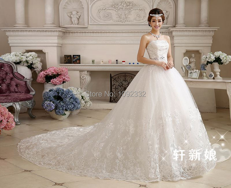 S Stock 2016 New Plus Size Bridal Gown Wedding Dress Long