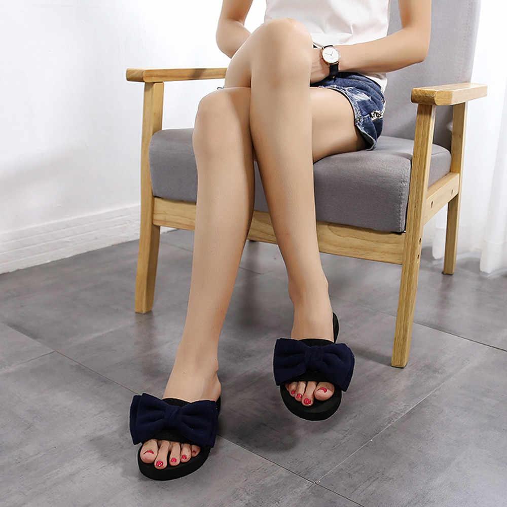 SAGACE 2019 Schuhe Frau Bogen Sommer Sandalen Für Mädchen Slipper Indoor Outdoor Sommer Flip-Flops Strand Schuhe