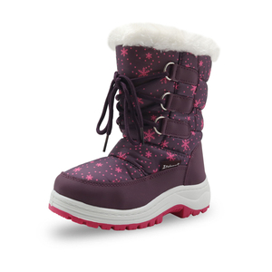 Image 2 - Apakowa Winter Girls Mid Calf Plush Snow Boots Little Princess Outdoor Durable Boots with Zipper Toddler Kids Anti slip Shoes
