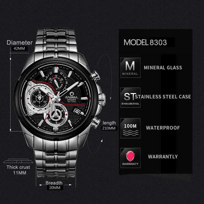 CASIMA zegarki męskie sportowe męskie zegarki. Wielofunkcyjny - Męskie zegarki - Zdjęcie 5