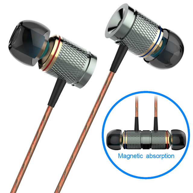 Plextone X53M Magnetic Absorption In-ear Earbuds Noise Cancellation Stereo Music Earphones With Microphone Free Shipping
