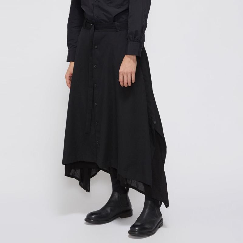 Trendmarkierung Angepasst 2019 Mode Männer Original Hairstylist Zwei Schicht Rock Hosen Lose Breite Bein Hosen Haren Hosen Plus Größe Kostüme Um 50 Prozent Reduziert