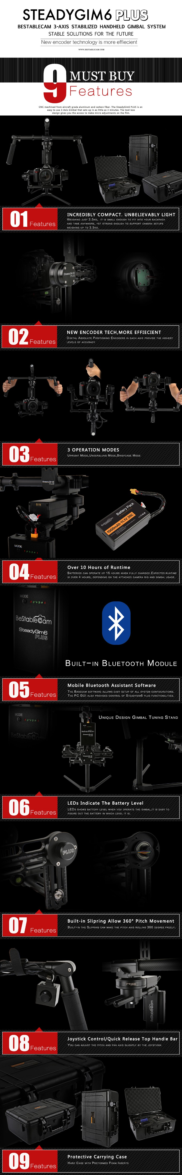 HORIZON HF3 3 axis Handheld Brushless Smartphone Gimba Free Gift Free DHL EMS